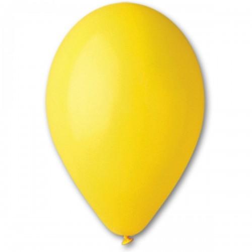 """12""""(30см) шар латексный пастель желтый/02 (100шт) Gemar (Италия)"""