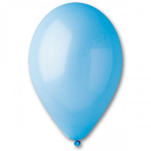 """5""""(13см) шар латексный пастель голубой/09 (100шт) Gemar (Италия)"""