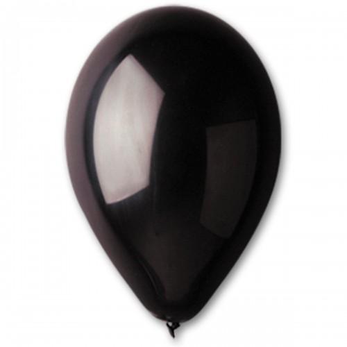 """12""""(30см) шар латексный пастель черный/14 (100шт) Gemar (Италия)"""