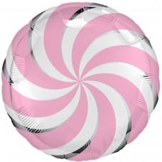 """18"""" (45см) Круг карамелька розовая (AG)"""