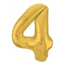 Agura фольг цифра Slim 4 золото 102 см (в уп)