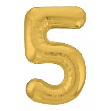 Agura фольг цифра Slim 5 золото 102 см (в уп)