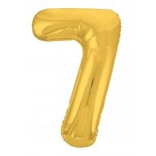 Agura фольг цифра Slim 7 золото 102 см (в уп)
