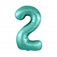 Agura фольг цифра Slim 2 бискайский зеленый 102 см (в уп)