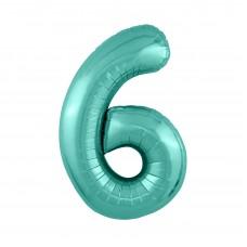 Agura фольг цифра Slim 6 бискайский зеленый 102 см (в уп)