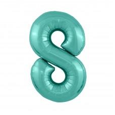 Agura фольг цифра Slim 8 бискайский зеленый 102 см (в уп)
