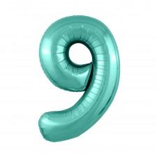 Agura фольг цифра Slim 9 бискайский зеленый 102 см (в уп)