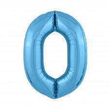 Agura фольг цифра Slim 0 холодный голубой 102 см (в уп)