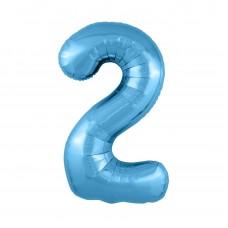 Agura фольг цифра Slim 2 холодный голубой 102 см (в уп)