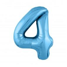 Agura фольг цифра Slim 4 холодный голубой 102 см (в уп)