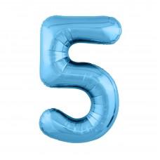 Agura фольг цифра Slim 5 холодный голубой 102 см (в уп)