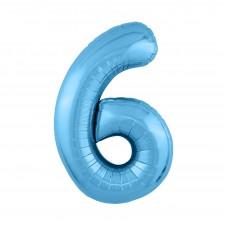 Agura фольг цифра Slim 6 холодный голубой 102 см (в уп)