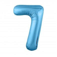 Agura фольг цифра Slim 7 холодный голубой 102 см (в уп)