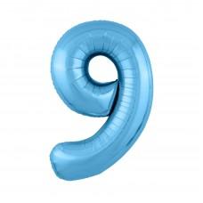 Agura фольг цифра Slim 9 холодный голубой 102 см (в уп)
