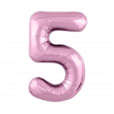 Agura фольг цифра Slim 5 фламинго 102 см (в уп)