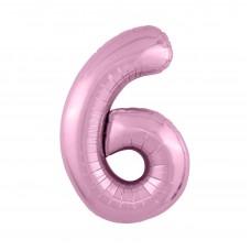 Agura фольг цифра Slim 6 фламинго 102 см (в уп)