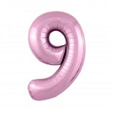 Agura фольг цифра Slim 9 фламинго 102 см (в уп)