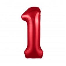 Agura фольг цифра Slim 1 красный 102 см (в уп)