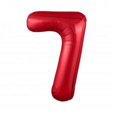 Agura фольг цифра Slim 7 красный 102 см (в уп)