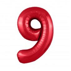 Agura фольг цифра Slim 9 красный 102 см (в уп)