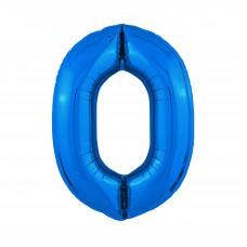 Agura фольг цифра Slim 0 синий 102 см (в уп)