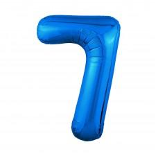 Agura фольг цифра Slim 7 синий 102 см (в уп)