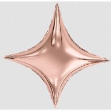 """AG 37"""" (94см) звезда 4х конечная Сириус розовое-золото"""