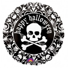"""18 """"(45см) череп чорно-білий AN (США) хеллоуин"""
