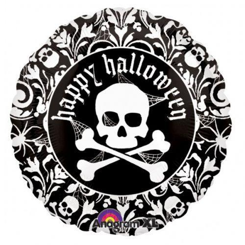 """18""""(45см) череп черно-белый AN(США) хеллоуин"""