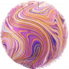 """18""""(45см) фольгированный КРУГ агат фиолетовый (США)"""