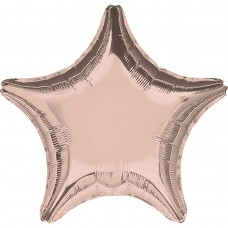 "AN 18"" звезда металлик розовое золото"