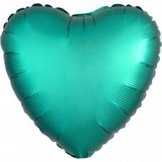 """AN 18"""" сердце сатин изумрудное"""