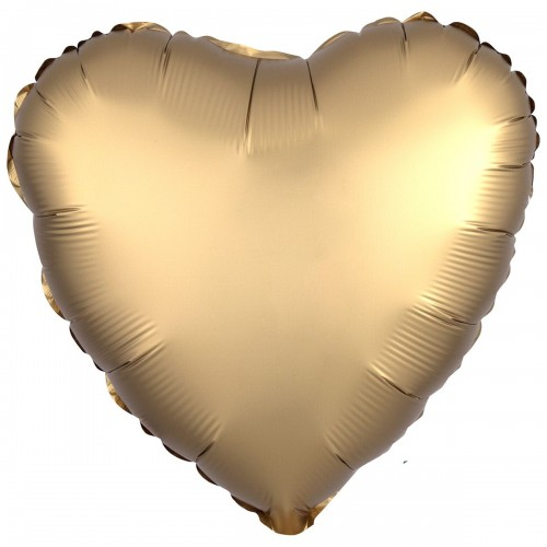 "AN 18"" сердце сатин золотое"