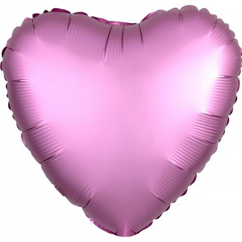 """AN 18"""" сердце сатин фламинго"""