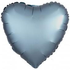 "AN 18"" сердце сатин синяя сталь"