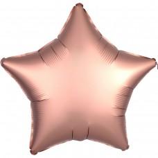"AN 18"" звезда сатин розовое золото"