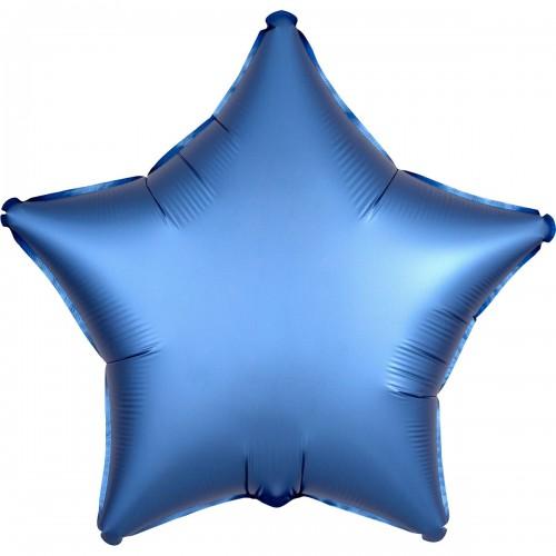 "AN 18"" звезда сатин голубая"