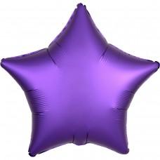 """AN 18"""" звезда сатин фиолетовая"""