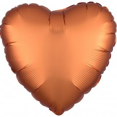 "AN 18"" сердце сатин янтарное"