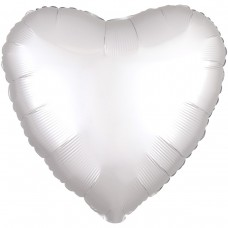 "AN 18"" сердце сатин белое"