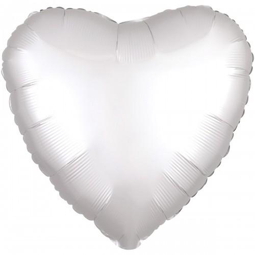 "AN 18 ""серце сатин біле"