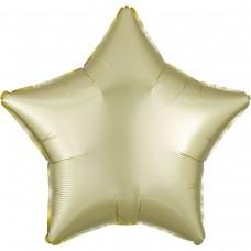 "AN 18"" (45см) звезда сатин светло желтая"