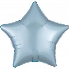 "AN 18"" (45см) звезда сатин светло голубой"