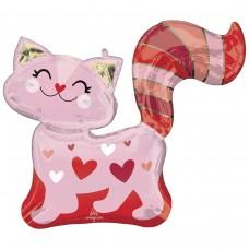 Куля фігура Кішка рожева з сердцем (AN БФ) США