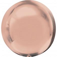 """AN 3d сфера б/рис 16"""" металлик розовое золото"""