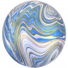 """Куля фольгована сфера 16 """"АГАТ блакитна (An) США"""
