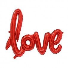 """Куля """"LOVE"""" червона 72см"""