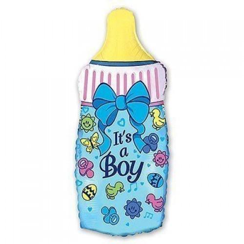 Фигура Бутылка голубая  (fm БФ)