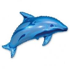 Фигура дельфин голубой (fm БФ)