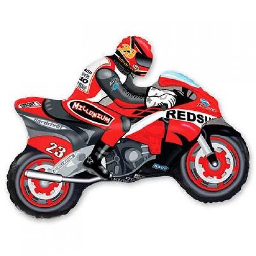 Фигура мотоциклист красный (fm БФ)